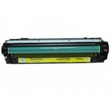 Картридж CE272A (Заправка картриджа + чип) для принтеров HP CLJ CP5525, желтый
