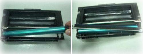 Замена фотобарабан картриджа самсунг 4200